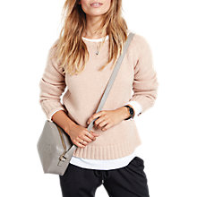 Buy hush Wool Cashmere Crew Neck Jumper, Rose Dust Marl Online at johnlewis.com