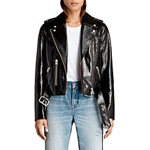 Buy AllSaints Rigby Payton Biker Jacket, Black Online at johnlewis.com