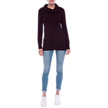Buy French Connection Cowl Neck Tunic Jumper, Evening Wine Online at johnlewis.com