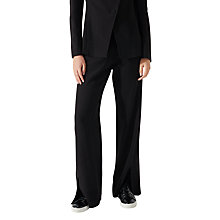 Buy Jigsaw Kria Rounded Tailoring Trousers, Black Online at johnlewis.com