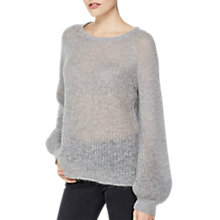 Buy Mint Velvet Lofty Balloon Sleeve Knit Jumper, Grey Online at johnlewis.com