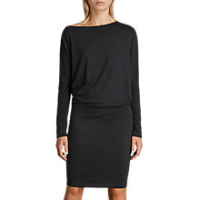 Buy AllSaints Fri Bodycon Dress, Dark Grey Marl Online at johnlewis.com