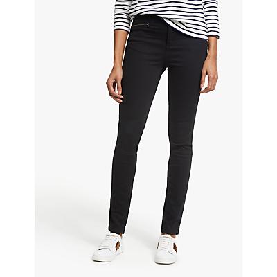 Boden Brighton Biker Skinny Jeans, Black