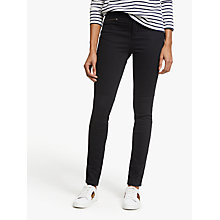 Buy Boden Brighton Biker Skinny Jeans, Black Online at johnlewis.com