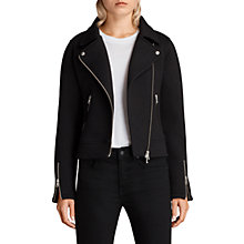 Buy AllSaints Lucy Biker Jacket, Jet Black Online at johnlewis.com
