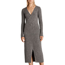 Buy AllSaints Faria Knitted Dress, Grey Marl Online at johnlewis.com