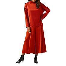 Buy Jigsaw Satin Twill Culottes, Nordic Orange Online at johnlewis.com