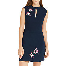 Buy Oasis Blossom Embroidered Dress, Dark Sky/Blossom Online at johnlewis.com