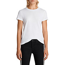 Buy AllSaints Imogen T-Shirt, Optic White Online at johnlewis.com