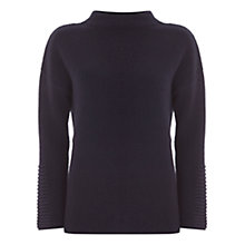 Buy Mint Velvet Rib Path Boxy Knitted Jumper, Dark Blue Online at johnlewis.com