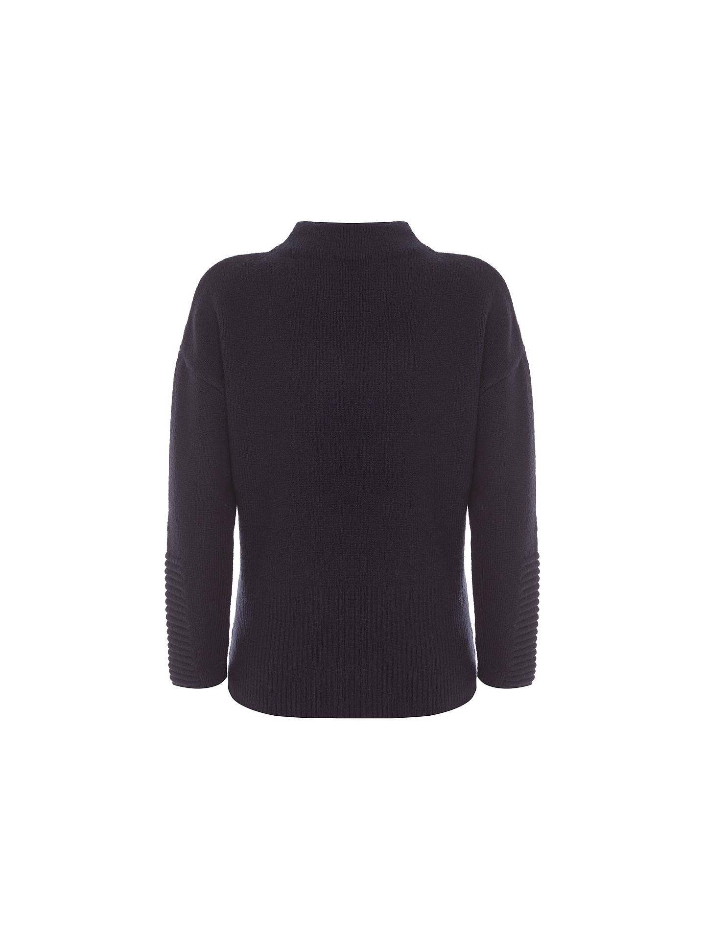BuyMint Velvet Rib Path Boxy Knitted Jumper, Dark Blue, 6 Online at johnlewis.com