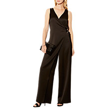 Buy Karen Millen Tailored Soft Jumpsuit, Black Online at johnlewis.com