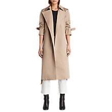 Buy AllSaints Miley Trench Coat Mac, Sand Brown Online at johnlewis.com