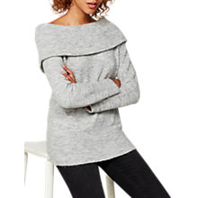 Buy Mint Velvet Bardot Fluffy Knit Jumper, Silver Grey Online at johnlewis.com