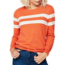 Buy Mint Velvet Blocked Stripe Knit Jumper, Orange Online at johnlewis.com