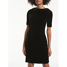 Buy Boden Martha Velvet Dress, Black Online at johnlewis.com