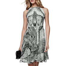 Buy Reiss Sibilla Multi Burnout Detail Dress, Multi Online at johnlewis.com