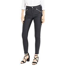 Buy Oasis Coated Pinstitch Jeans, Black Online at johnlewis.com