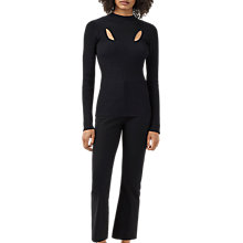 Buy Finery Beaumont Cut Out Jumper, Black Online at johnlewis.com