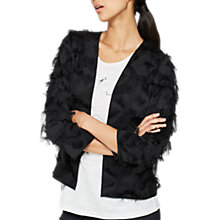 Buy Mint Velvet Fringed Jacket, Black Online at johnlewis.com