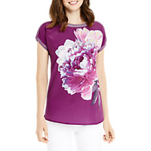 Buy Oasis Digital Floral Dream T-Shirt, Deep Pink Online at johnlewis.com