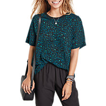 Buy hush Raglan Woven T-Shirt, Green Leopard Online at johnlewis.com