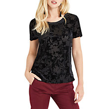Buy Oasis Velvet Burnout T-Shirt Online at johnlewis.com