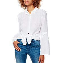 Buy Mint Velvet Striped Burnout Shirt, Ivory Online at johnlewis.com