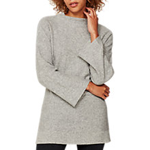 Buy Mint Velvet Flared Sleeve Tunic Jumper, Grey Online at johnlewis.com