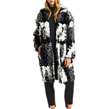 Buy Grace & Oliver Luna Jacquard Faux Fur Coat, Black/White Online at johnlewis.com