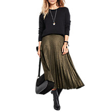 Buy hush Metallic Pleated Skirt, Bronze Online at johnlewis.com