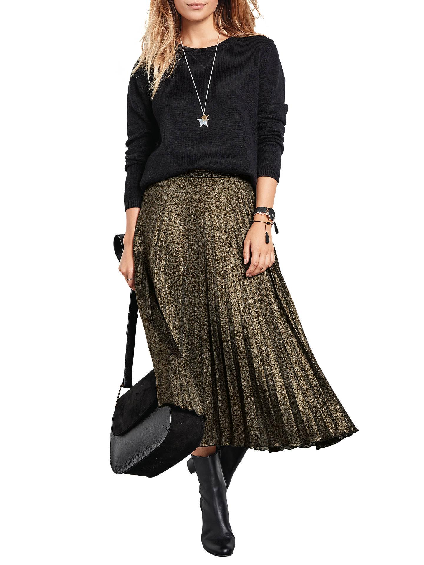 76ffbd95fd Buyhush Metallic Pleated Skirt