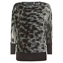 Buy Mint Velvet Alexa Printed Double Layer Top, Multi Online at johnlewis.com