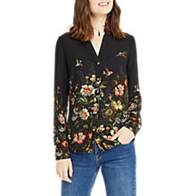 Buy Oasis Rosetti Placement Long Sleeve Shirt, Multi/Black Online at johnlewis.com