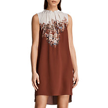 Buy AllSaints Jay Clement Silk Dress, Rust Online at johnlewis.com