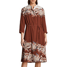 Buy AllSaints Vera Clement Silk Dress, Rust Online at johnlewis.com