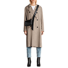 Buy AllSaints Sirena Trench Coat Mac, Sage Green Online at johnlewis.com