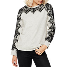 Buy Mint Velvet Lace Trim Sweater, Multi Online at johnlewis.com