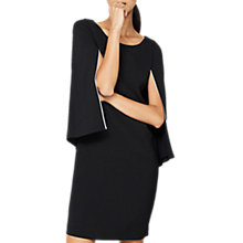 Buy Mint Velvet Cape Dress, Black Online at johnlewis.com