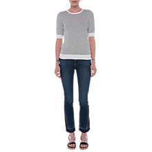 Buy French Connection Noli Mozart Stitch Jumper, Winter White / Black Online at johnlewis.com