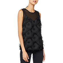 Buy Mint Velvet Fringed Cami, Black Online at johnlewis.com