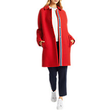 Buy Grace & Oliver Astrid Trimmed Cocoon Coat, Red Online at johnlewis.com
