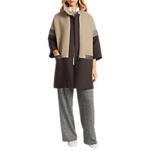 Buy Grace & Oliver Edith Swing Colour Block Coat, Oatmeal/Multi Online at johnlewis.com