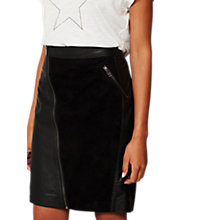 Buy Mint Velvet Leather Zip Pencil Skirt Online at johnlewis.com