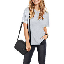 Buy hush Metallic Trim T-Shirt, Grey/Silver Online at johnlewis.com