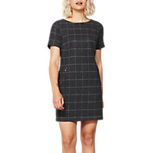 Buy Mint Velvet Check Dress, Dark Grey Online at johnlewis.com