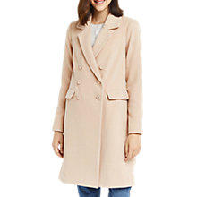 Buy Oasis Clara Double Breasted Coat, Neutral Online at johnlewis.com