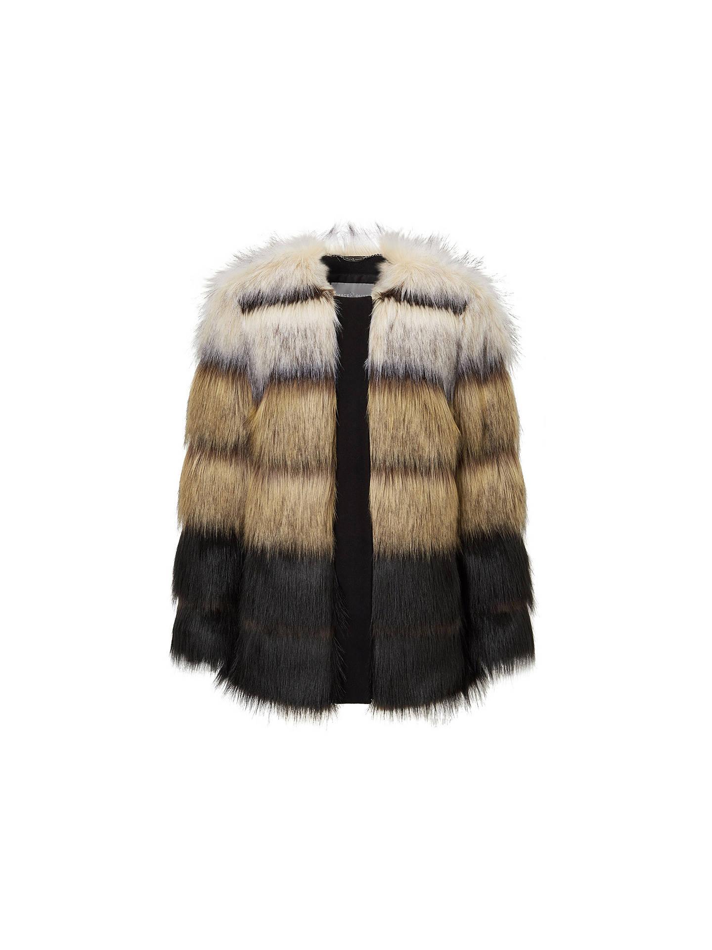 ed7845a3e0c BuyGrace   Oliver Madison Stripe Faux Fur Jacket