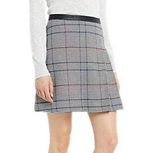 Buy Oasis Pretty Mono Check Skirt, Multi Online at johnlewis.com