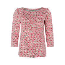 Buy White Stuff Jersey Patterned T-Shirt, Pink Midnight/White Online at johnlewis.com